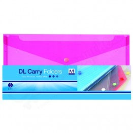 DL Carry Folders, Assorted Colours, Pack of 5