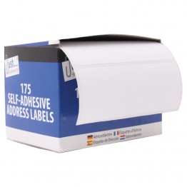 JS Self Adhesive Address Label Rolls 36mm x 89mm, 175 Labels per Roll