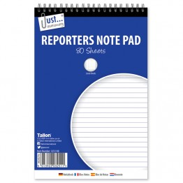 JS Reporters Note Pad with Spiral Ruled, 160 Pages