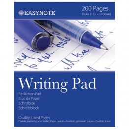 Easynote Writing Pads Lined / Ruled, 200 Pages