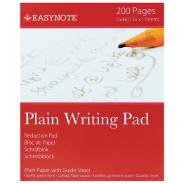 Easynote Writing Pads Plain, 200 Pages