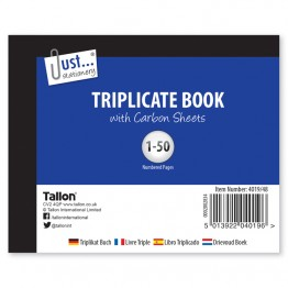 JS Triplicate Book with Carbon  A6/C6, 1-50
