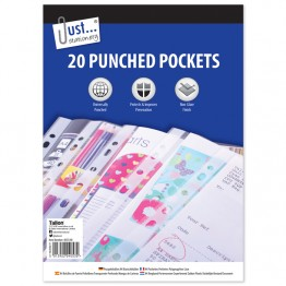 20 Poly Punched Pockets