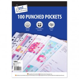 100 Poly Punched Pockets