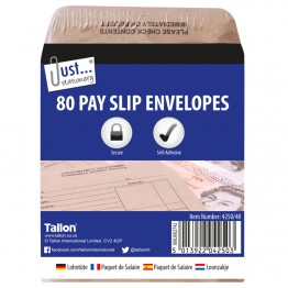 Wage Pack | Pay Slip Envelopes, Pack of 80