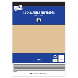 JS Manilla / Brown Envelopes A4/C4, Pack of 15