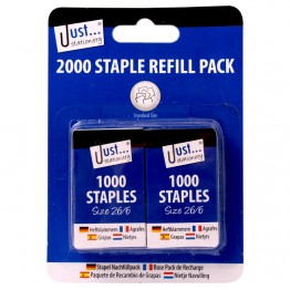 JS 1000 Staples Refill 26/6, Pack of 2