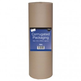 JS Wrapping Paper Corrugated Brown Rolls 400mm x 2m Just Stationery
