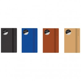 Easynote Soft Touch Notebook Slim Asst Colours, 200 Pages
