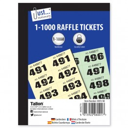 JS Raffle Ticket/Cloakroom Ticket, 1-1000