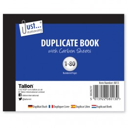 JS Duplicate Book with Carbon  A6/C6, 1-80