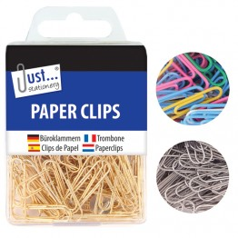 JS paper clip, Gold, Silver & Assorted