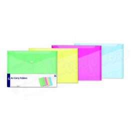 A4 Carry Folders, Assorted Colours, Pack of 4