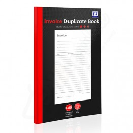 A* Duplicate Book Invoice with Carbon A5/C5, 1-80