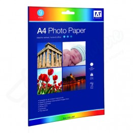 Photo Paper A4 Glossy Finish, Pack of 9 Sheets