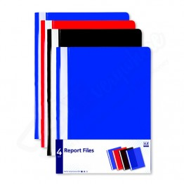 A* Report Files Asst Colours A4/C4, Pack of 4