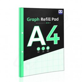 A* Refill Pad A4 Graph, 140 Pages
