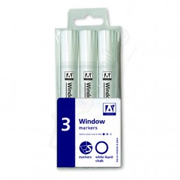 A* Liquid Chalk Window Marker White, Pack Of 3