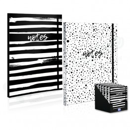 A4 Spots & Stripes Notebook with Elastic Band