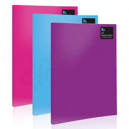 A4 Solid Colour Display Book 20 Pockets Blok Collection