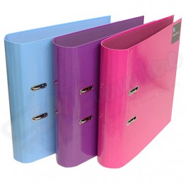 A4/C4 Solid Colour Lever Arch Files Curved Spine Block Collection