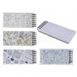 Slim Spiral Note Pad Small, 80 Pages - 14 x 6cm Asst Colour