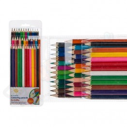 36 Wooden Colouring Pencil Full Length Carded