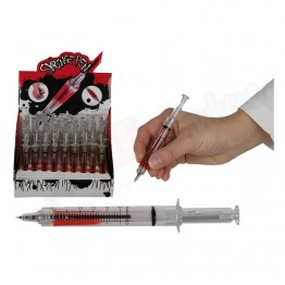 Syringe Pen with Red liquid Ink