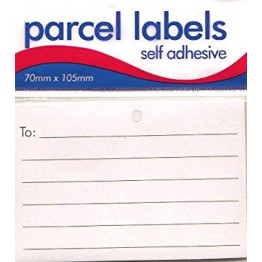 Self Adhesive 12 Parcel Label 70mm x 105mm, Pack of 12