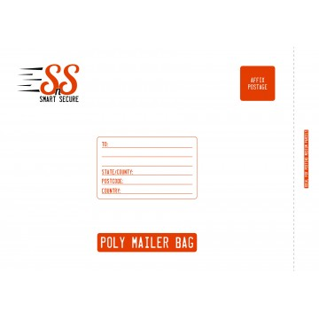 Smart n Secure XXL | Extra Extra Large Poly Mailer Bags | Poly Mailing Bags, 450 x 590 mm - Pack of 25