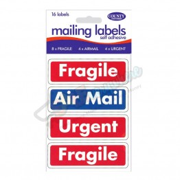 Self Adhesive 16 Mailing labels, Pack of 12