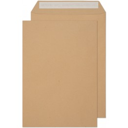 C4/A4 Manilla / Brown 250 Premium Envelopes 324mm x 229mm Peel & Seal 125gsm