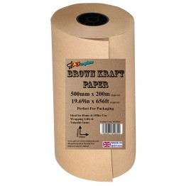 Brown Kraft Wrapping Paper 500mm x 200m