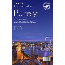Purley Manilla / Brown Envelopes A4/C4, Pack of 25