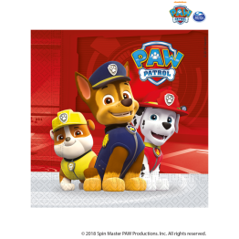 20 Paper Napkins Three Ply Paw Patrol
