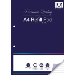 A* Refill Pad A4 3 in 1 Combination, 120 Pages