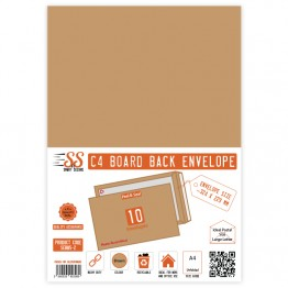 Board Back Manilla / Brown Envelopes A4/C4, Pack of 10
