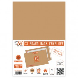 Board Back Manilla / Brown Envelopes A3/C3, Pack of 10