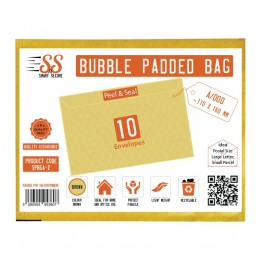 SnS Gold Bubble Padded Bags A/000, Pack of 10