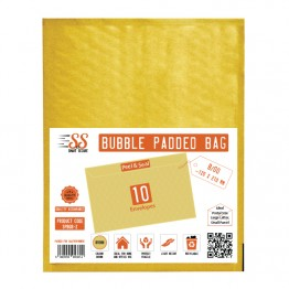 SnS Gold Bubble Padded Bags B/00, Pack of 10