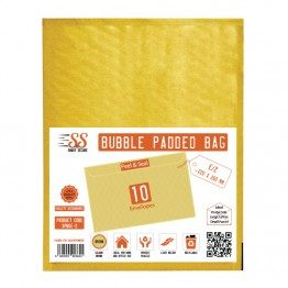 SnS Gold Bubble Padded Bags E/2, Pack of 10
