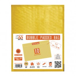 SnS Gold Bubble Padded Bags F/3, Pack of 10