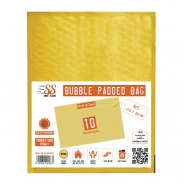 SnS Gold Bubble Padded Bags H/5, Pack of 5