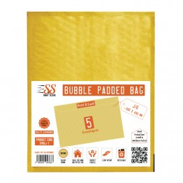 SnS Gold Bubble Padded Bags J/6, Pack of 5