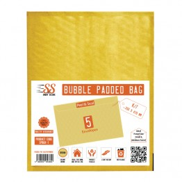 SnS Gold Bubble Padded Bags K/7, Pack of 5