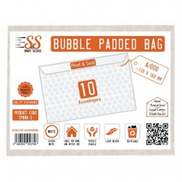 SnS White Bubble Padded Bags A/000, Pack of 10