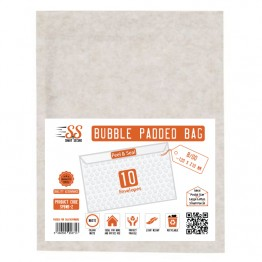 SnS White Bubble Padded Bags B/00, Pack of 10
