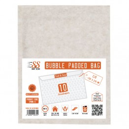 SnS White Bubble Padded Bags C/0, Pack of 10