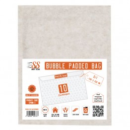 SnS White Bubble Padded Bags D/1, Pack of 10