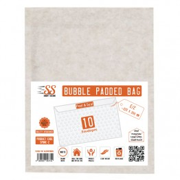 SnS White Bubble Padded Bags E/2, Pack of 10